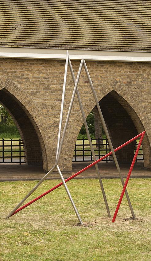 Attirance-Tango 2010 acier inox peinture email L 200 x l 100 x h270 cm
