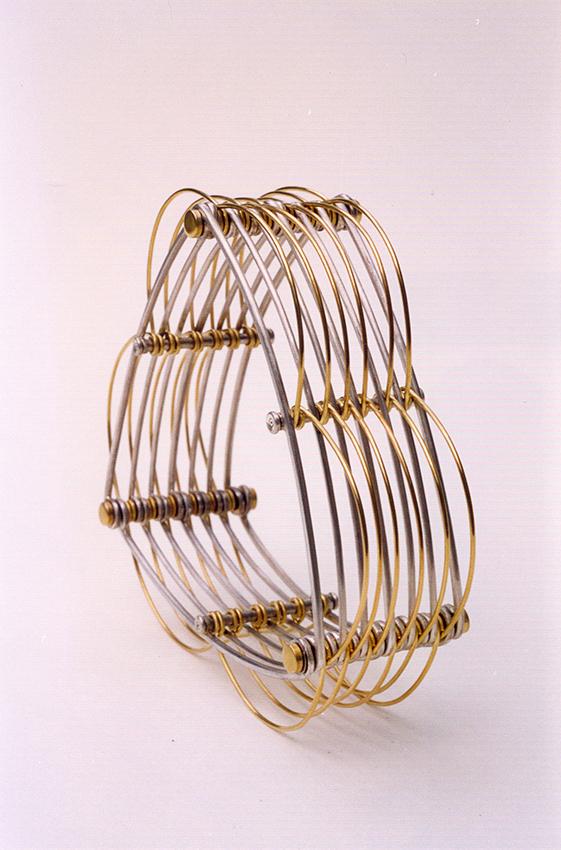 Bracelet argent-or jaune 18k 2000 9x9x4cm
