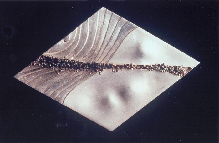 Broche losange argent 6x5 cm 1992